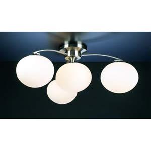 Aosta Satin Nickel Semi-Flush Ceiling Light
