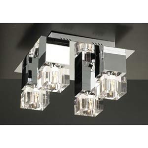 Charme Small Polished Chrome Flush Mount Ceiling Light