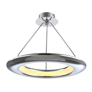 UFO Polished Chrome 26-Inch LED Pendant