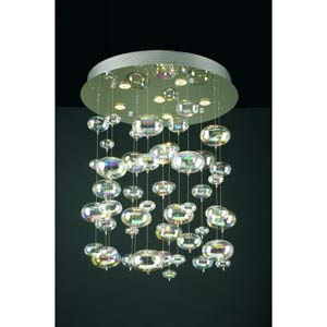Bubbles Small Polished Chrome Flush Mount Ceiling Light