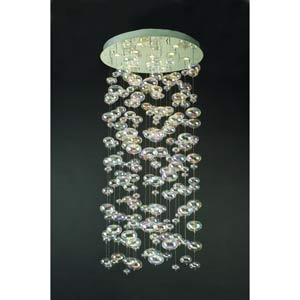 Bubbles Large Polished Chrome Flush Mount Ceiling Light
