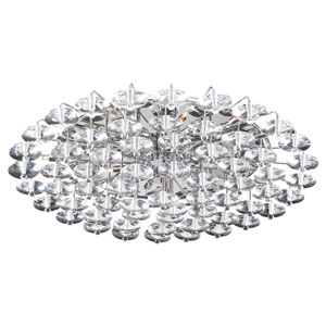Diamente 18-Light Polished Chrome Ceiling-Light with Asfour Handcut Crystal Glass -Halogen