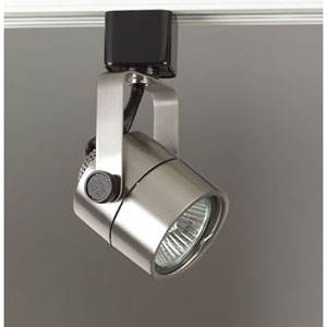 Slick One-Light Satin Nickel Track Fixture
