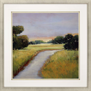 Golden Marsh Multicolor Framed Art