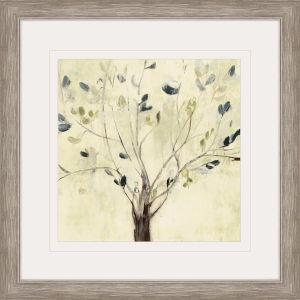 Trees of Blue I Neutral Framed Art