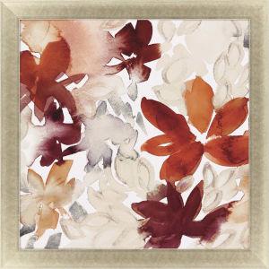 Autumn Rose Blooms I Red Framed Art