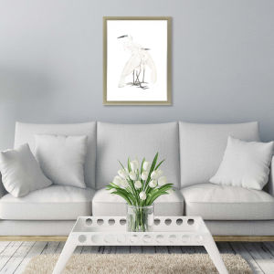 Black Billed Heron White Framed Art