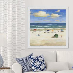 Blue 41 H x 41 W-Inch Oceanside Wall Art