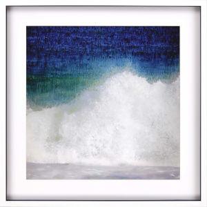 Libby Langdon Splash Blue Framed Wall Art