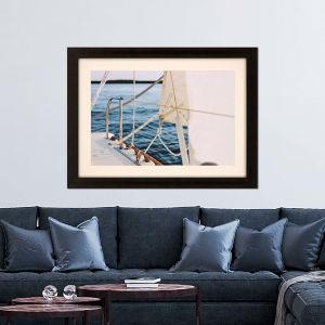 Libby Langdon Sag Harbor Sail 1 Blue Framed Wall Art