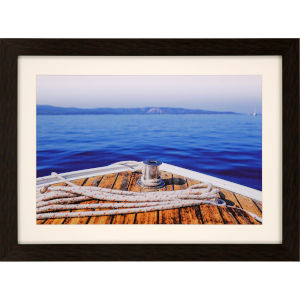 Libby Langdon Sag Harbor Sail 3 Blue Framed Wall Art