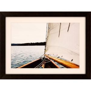 Libby Langdon Sag Harbor Sail 4 Multicolor Framed Wall Art