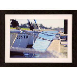 Libby Langdon Sag Harbor Sail 5 Multicolor Framed Wall Art