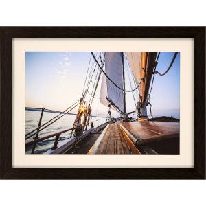 Libby Langdon Sag Harbor Sail 6 Multicolor Framed Wall Art