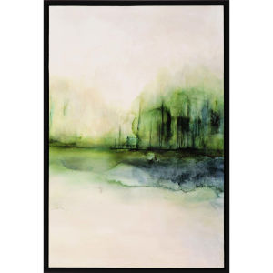 Evanesce I Green Framed Wall Art