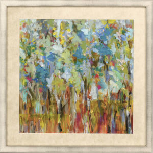 Meditations In Nature Blue Framed Wall Art