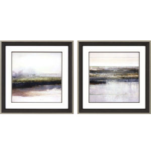 Riverbank Multicolor Framed Wall Art, Set of 2