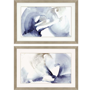 Wave Break Blue Framed Wall Art, Set of 2
