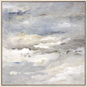 Sea Meets Sky Neutral Framed Wall Art