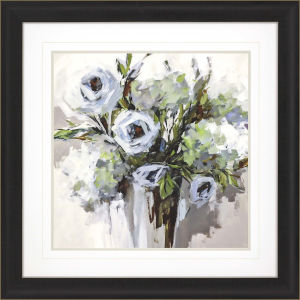 Serene Blossoms 1 Blue Framed Wall Art