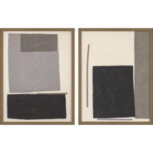 Blockade Black Framed Wall Art, Set of 2