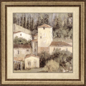 Peaceful View of Tuscany Neutral Framed Wall Art