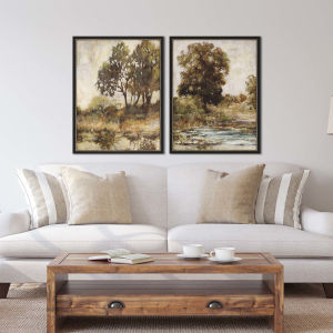 Brown Woodridge  Framed Art, Set of 2