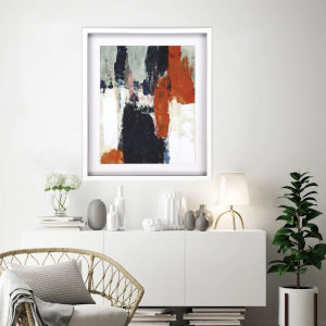 Libby Langdon Multicolor Crush II Framed Art