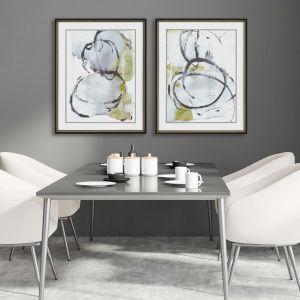 Neutral 30 H x 24 W-Inch Swirled Wall Art, Set of 2