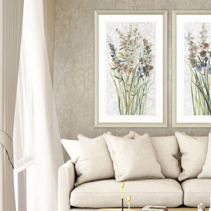 Neutral 42 H x 26 W-Inch Patch of Wildflowers I Wall Art
