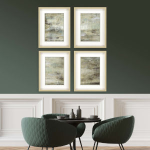 Neutral 26 H x 20 W-Inch Driftwood Panel Wall Art, Set of 4