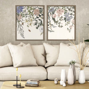 Multicolor 30 H x 24 W-Inch Hanging Floral Wall Art, Set of 2