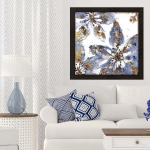 Blue 40 H x 40 W-Inch Flower Forms Wall Art