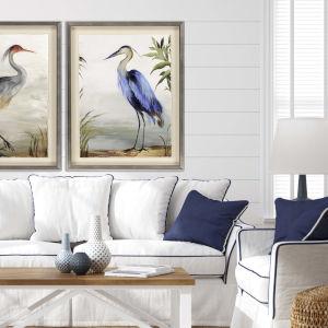 Blue 44 H x 35 W-Inch Blue Heron Wall Art