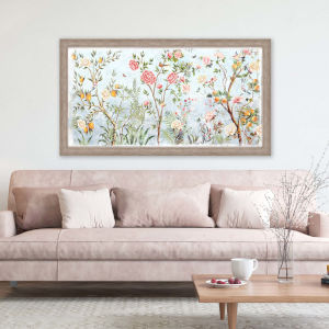 Multicolor 28 H x 52 W-Inch Fresco Floral Wall Art