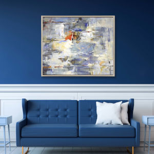 Blue 32 H x 42 W-Inch Bluebird Wall Art