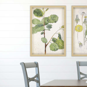 Green 32 H x 22 W-Inch Akvarellmalning Wall Art