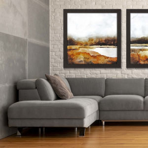 Brown 41 H x 41 W-Inch Auburn and Overcast I Wall Art