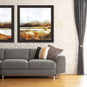 Brown 41 H x 41 W-Inch Auburn and Overcast II Wall Art