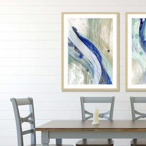 Blue 42 H x 30 W-Inch Whitewater I Wall Art