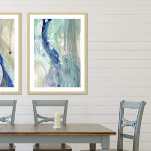 Blue 42 H x 30 W-Inch Whitewater II Wall Art