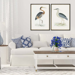 Herons Multicolor Framed Art, Set of Two