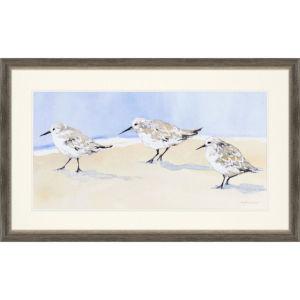 Sandpipers I Blue Framed Art
