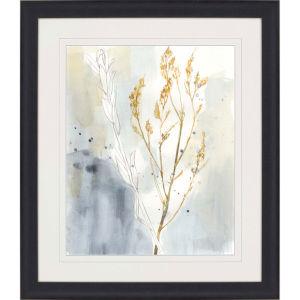 Wild Grass I Yellow Framed Art