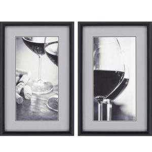 Wine II Neutral Framed Art, Set of Two
