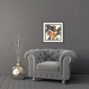 Kumquat I Rust Framed Art