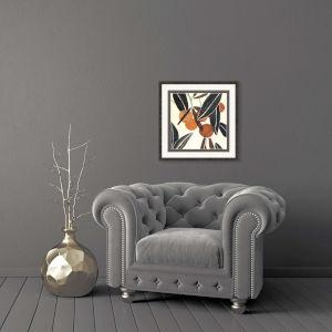 Kumquat II Rust Framed Art
