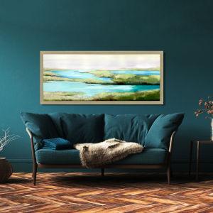 Pardis Perdu Green Framed Art