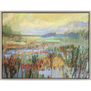 Marsh in May Green Canvas