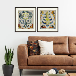 Bohemian Ikat I Multicolor Framed Art, Set of Two